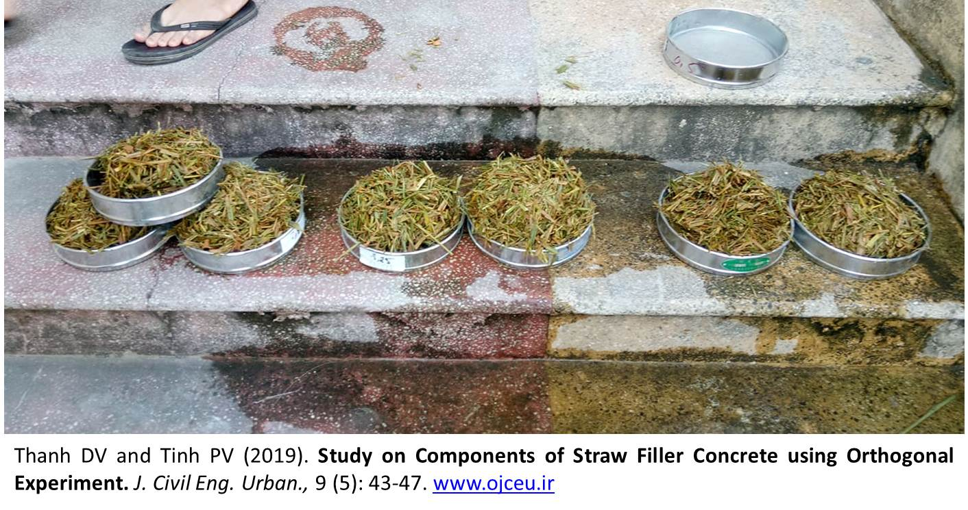 Components_of_Straw_Filler_Concrete_using_Orthogonal_Experiment